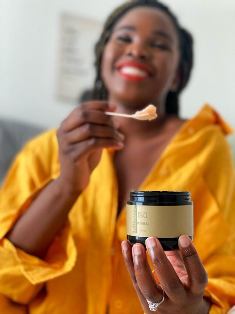 aromatherapy body scrub and body butter