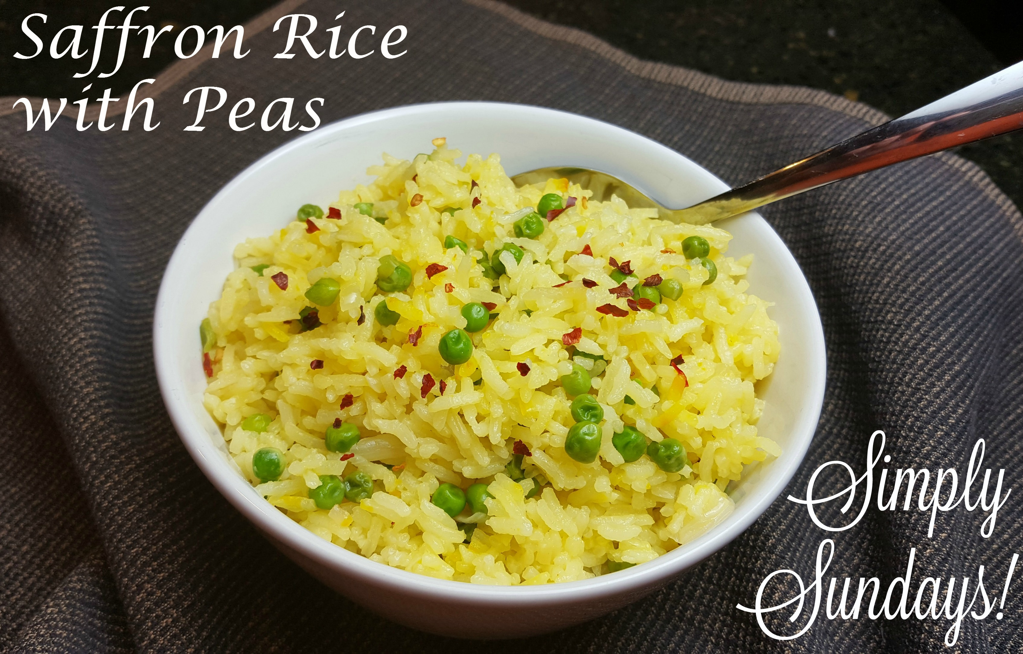 Saffron Rice With Peas Simply Sundays