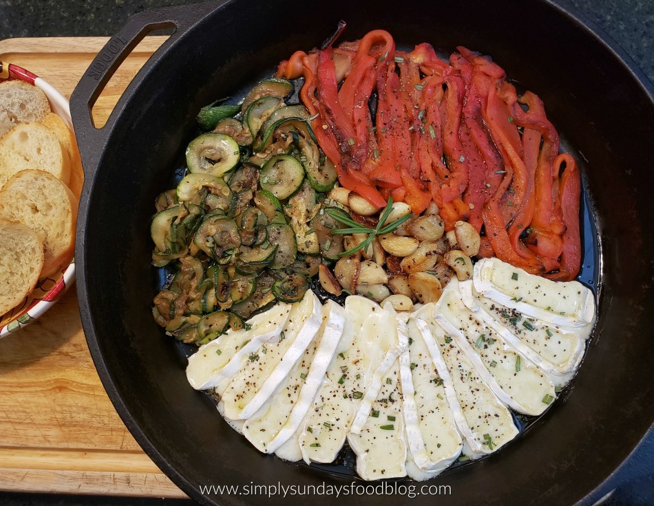 Roasted Veggies and Brie FB