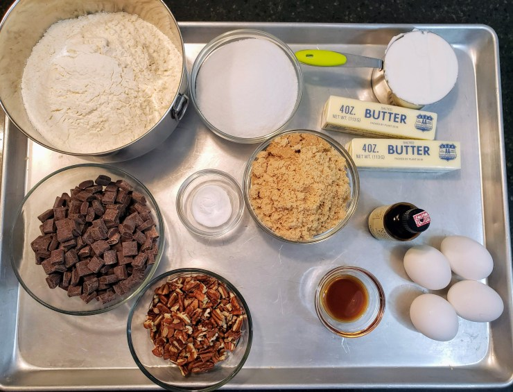 Ingredients measured out - Amazing Chocolate Chip Cookies