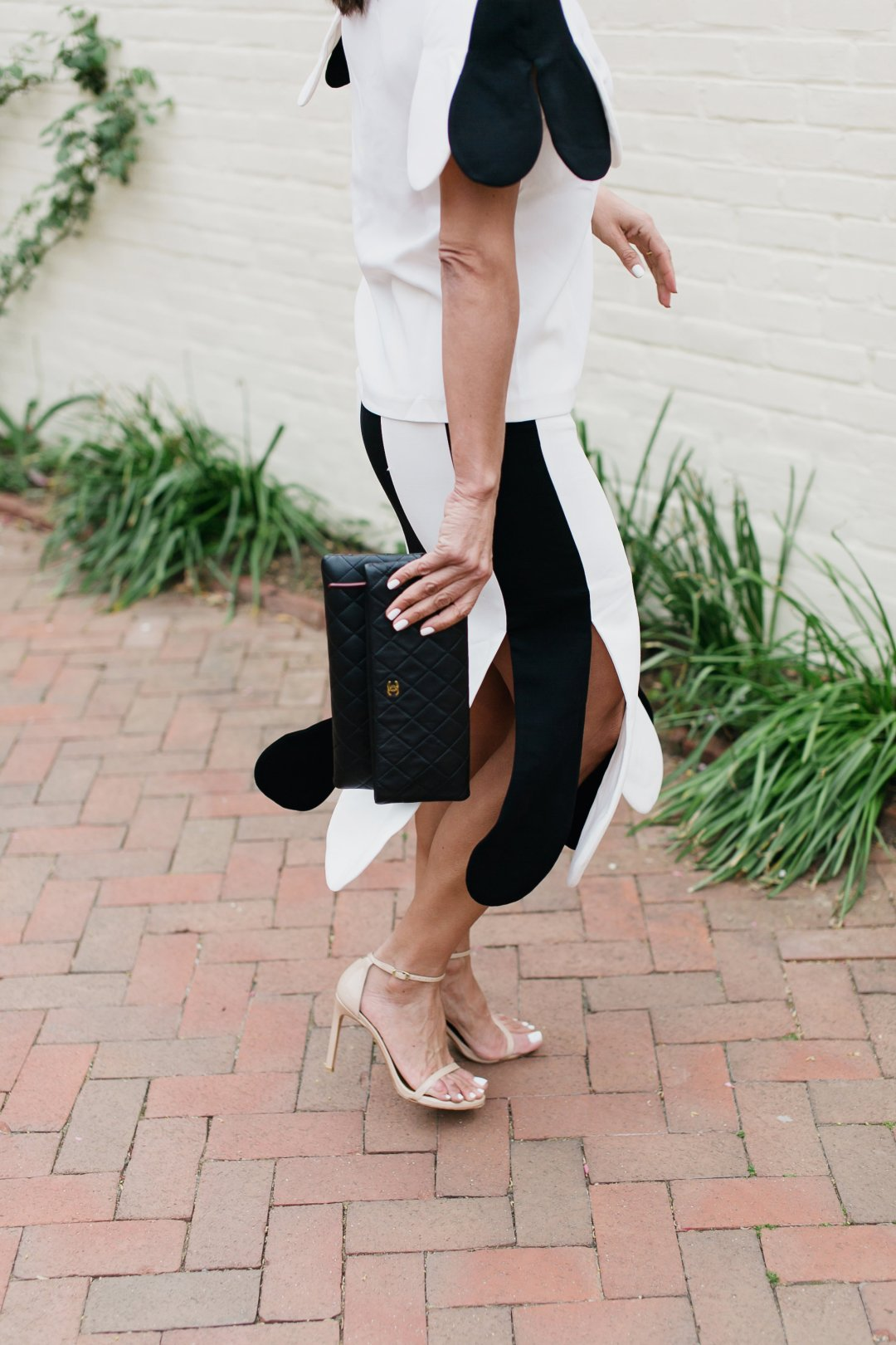 Vb X Target Black And White With A Spring Petal Twist Simply Sylvia Skirt There Is Something Very Chic About Simple Outfit Color Combo Think Tuxedos For Example I Also Love Classic Silhouettes