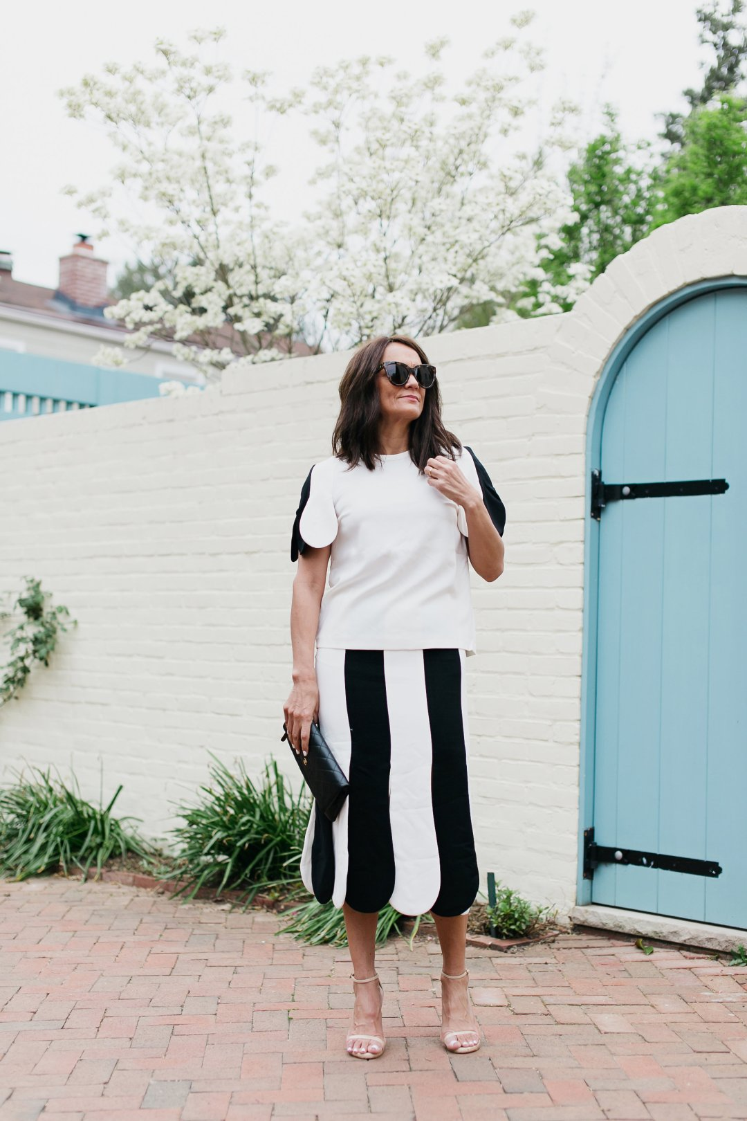 Vb X Target Black And White With A Spring Petal Twist Simply Sylvia Skirt The Bold Panels On Sleeves Are Pleasing Details Not Only From An Optical Standpoint But They Add Subtle Movement In