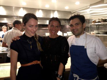 Anne Marler, Moi, and Chef Johnny Monis