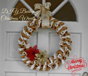 Burlap Christmas Wreath   Guest Post Sugar Bee Crafts - simplytodaylife.com