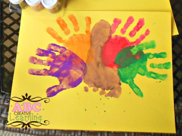 Handprint and Footprint Turkey
