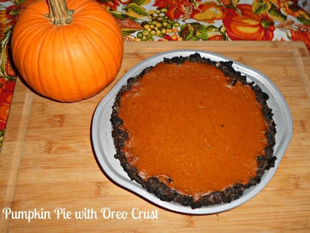 Oreo Crust Pumpkin Pie