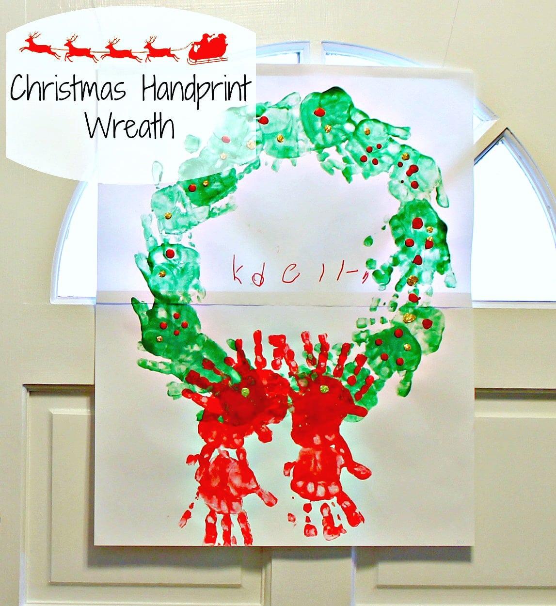 Easy Christmas Handprint Wreath Craft Simply Today Life