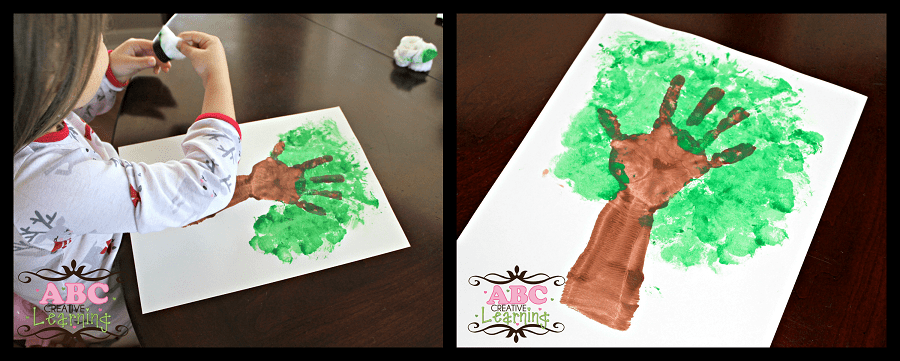Handprint Cherry Tree Arts and Craft