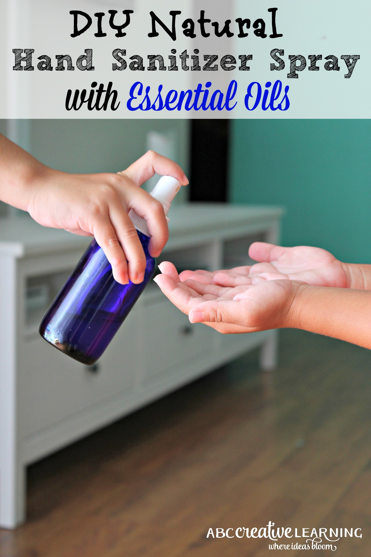 Diy Natural Hand Sanitizer Spray With Essential Oils