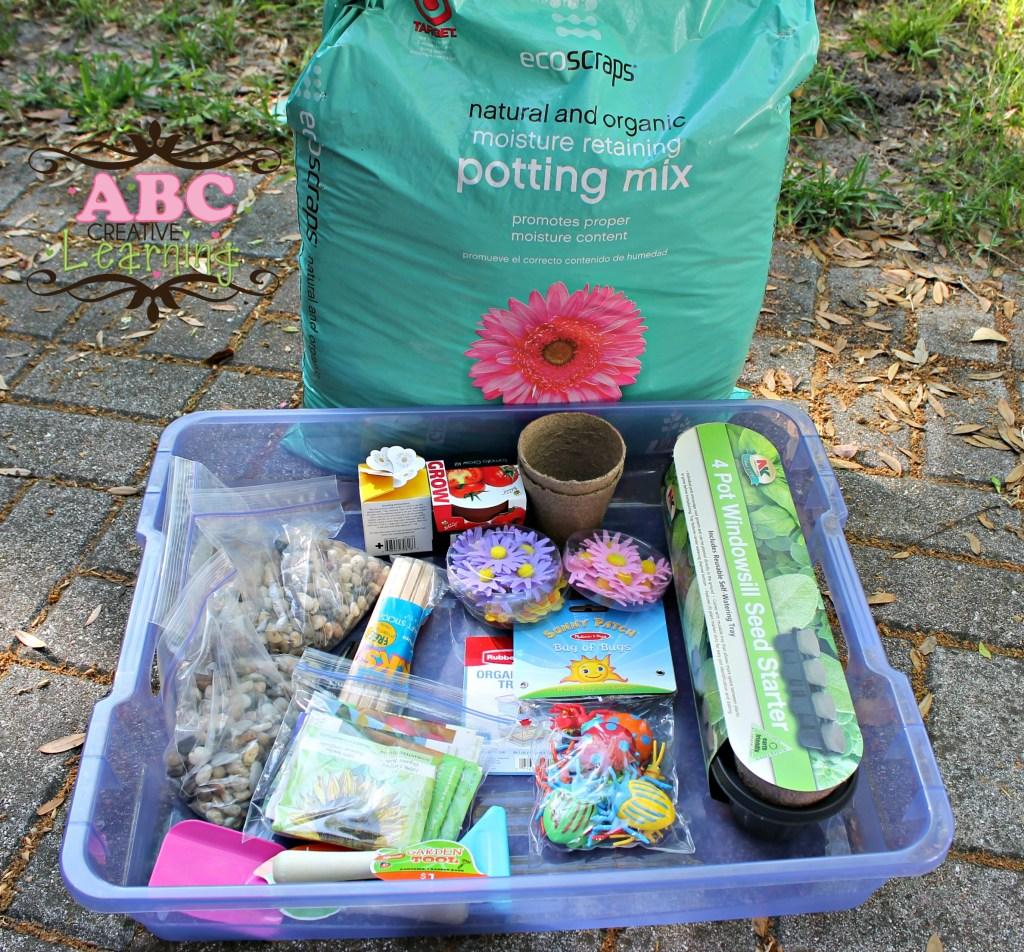 Garden Sensory Bin Items