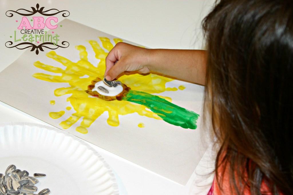 Sunflower Handprint Art