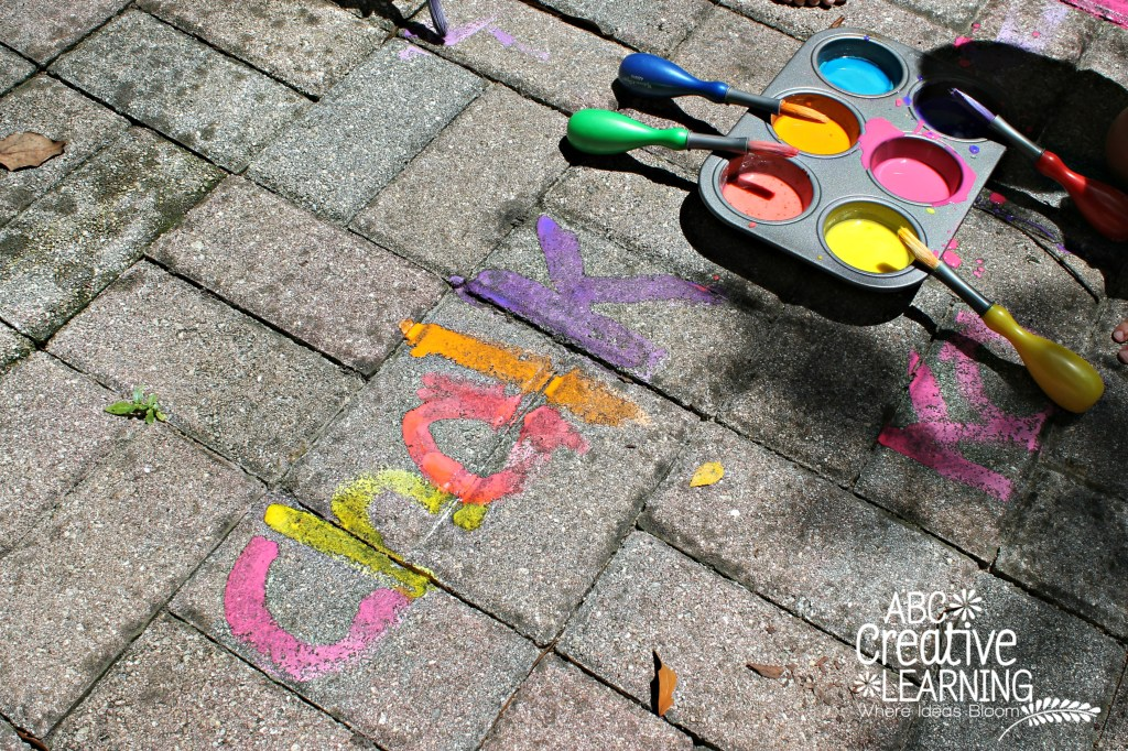 Chalk Paint for Outside Play