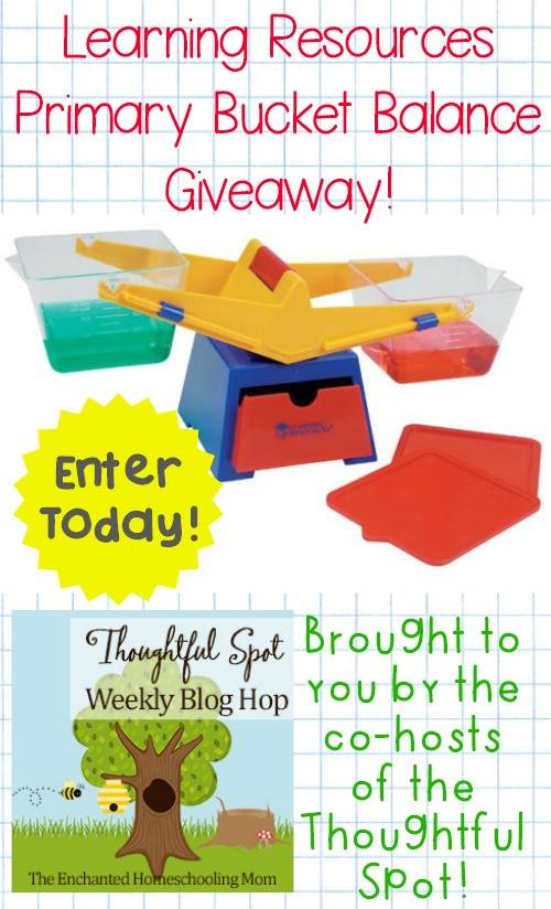 Thoughtful Spot Blog Hop Learning Resources Primary Bucket Balance Giveaway