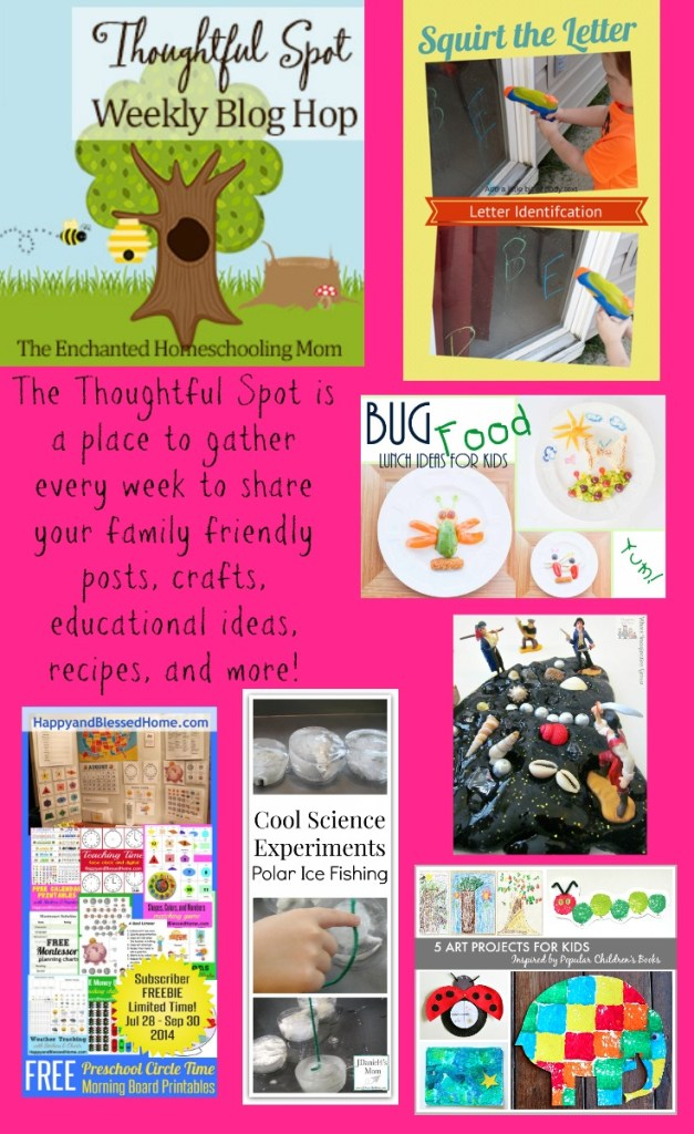 August The Thoughtful Spot is a place to gather every week to share your family friendly posts, crafts, educational ideas, recipes, and more!