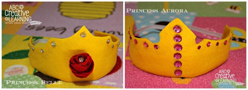 DIY Princess Belle and Princess Aurora Crowns