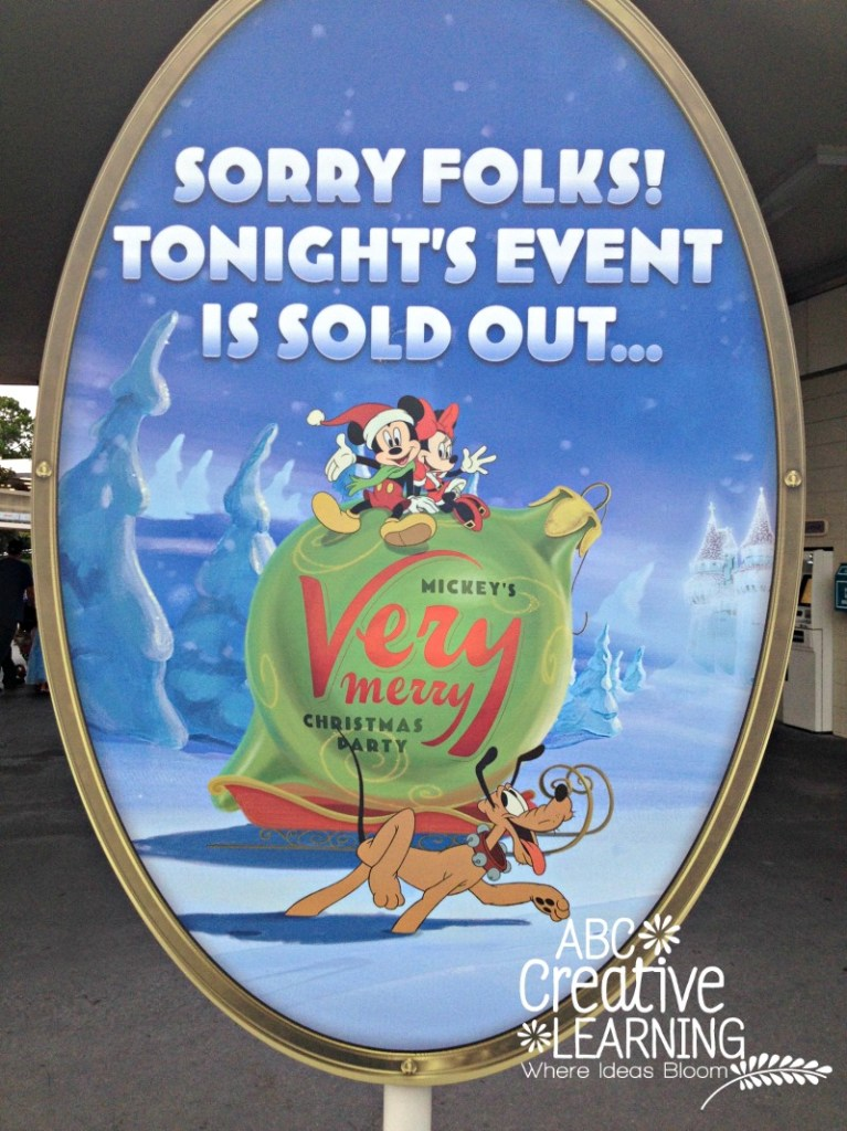 Mickey's Very Merry Christmas Party Selling Out