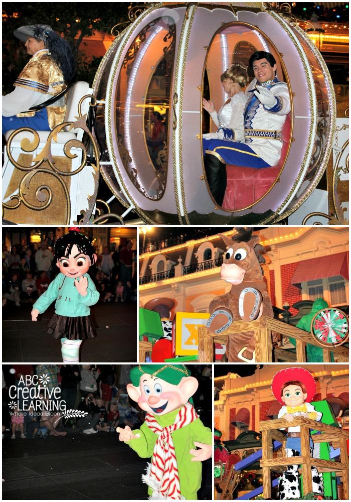 Mickey's Very Merry Christmas party Cinderella, Vanillape, Bullseye, Jessie, Dopey