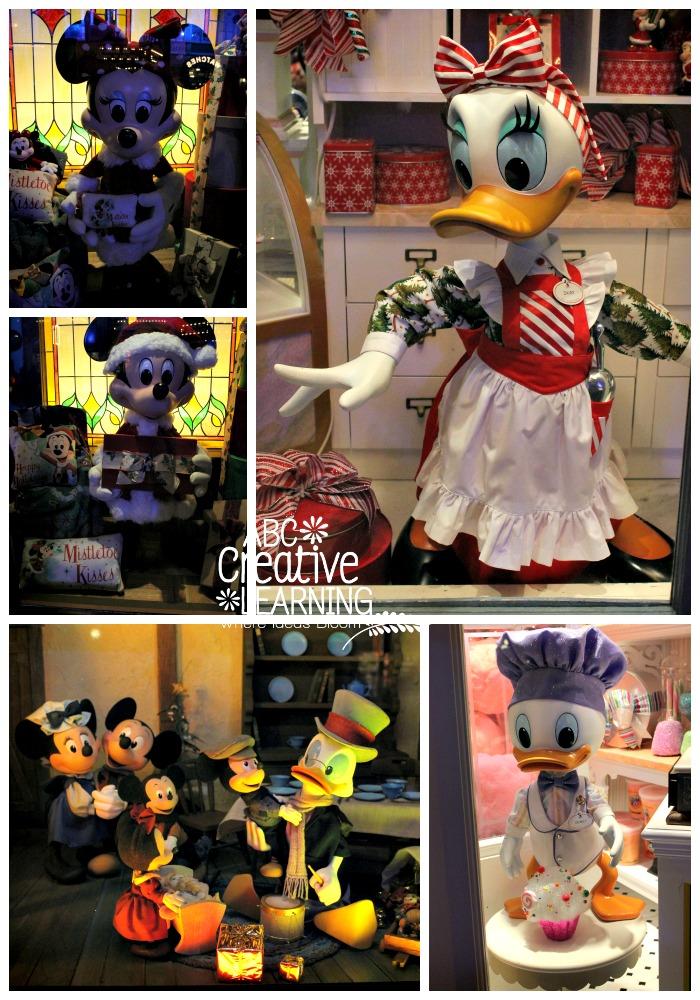 Walt Disney World Christmas Window Display during the Mickey's Very Christmas Party
