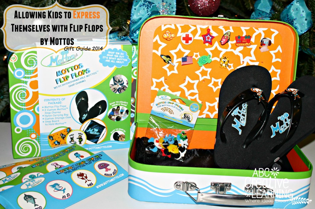 Allowing Kids to Express Themselves with Flip Flops by Mottos {Holiday Gift Guide}