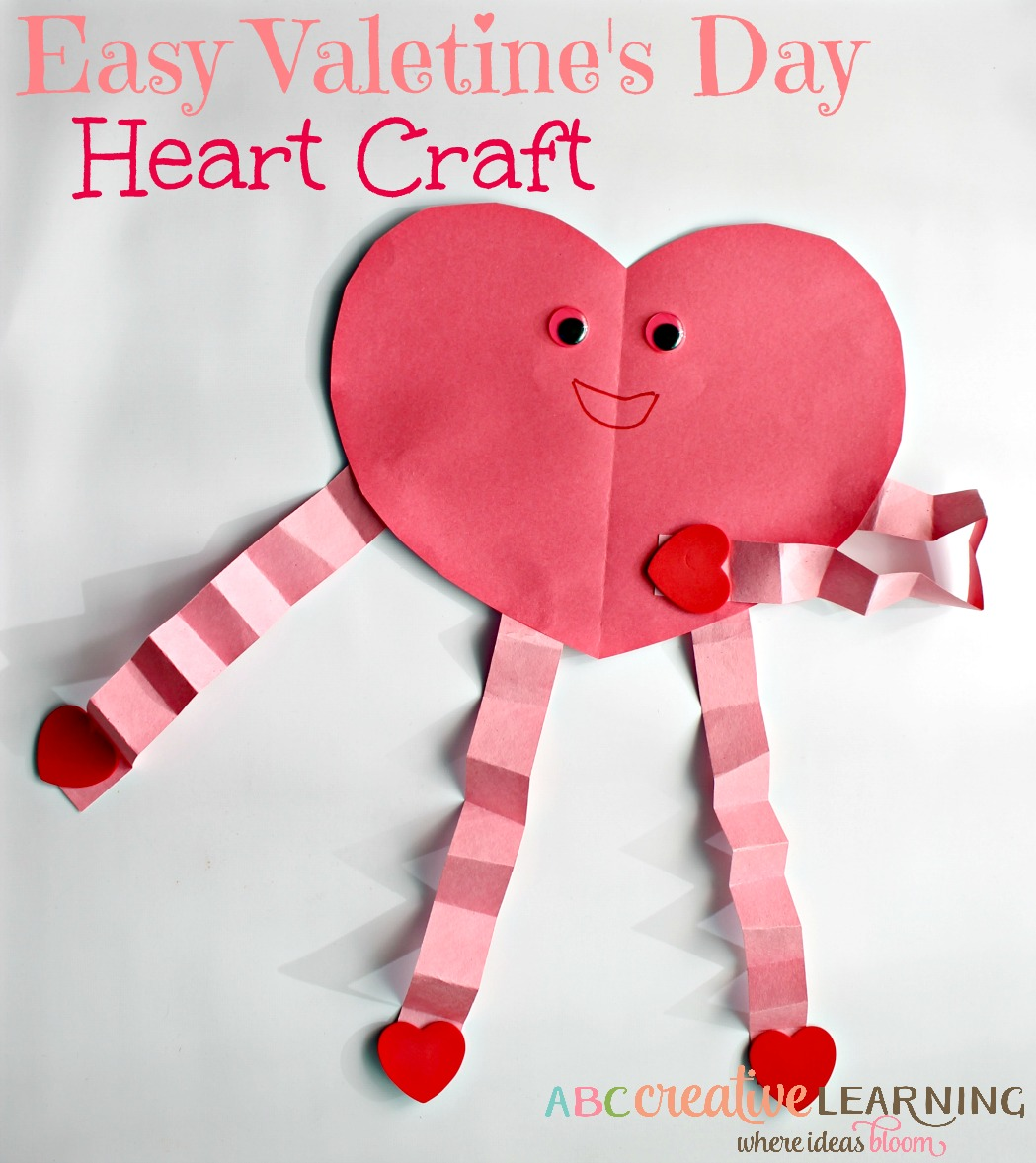 Easy And Cute Valentine S Day Heart Craft For Kids