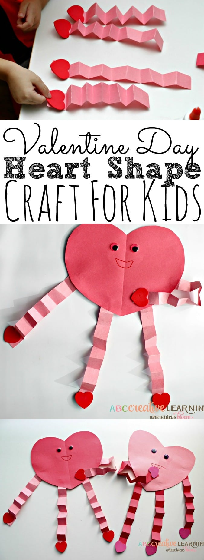 Easy Valentines Day Heart Craft For Kids