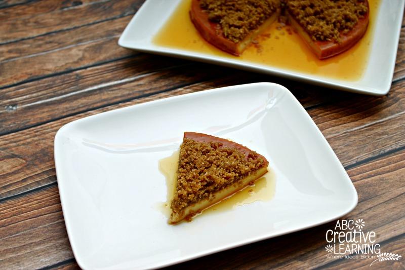 Flan with a Quaker® Oatmeal Crunch Topping Recipe Dessert