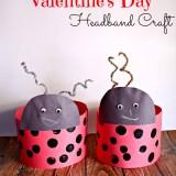 Love Bug Valentines Day Headband Craft