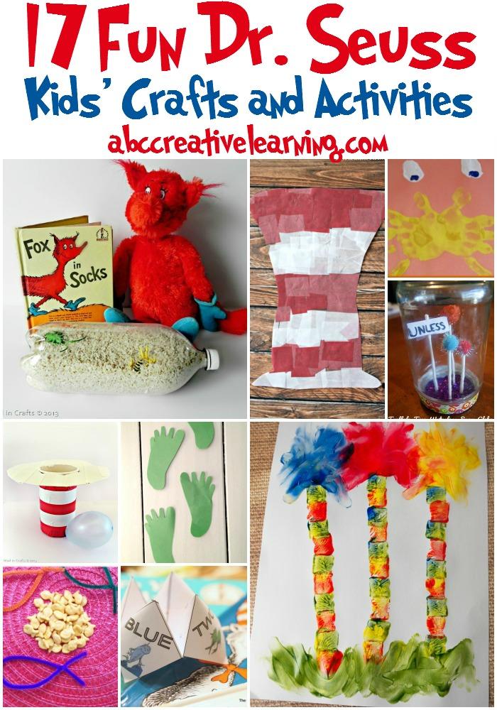 17 Fun Dr. Seuss Kid's Crafts and Activities -simplytodaylife.com