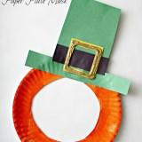 St. Patrick's Day Leprechaun Paper Plate Mask