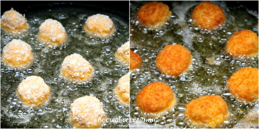 Two Ways Bolitas de Queso Kraft Pin That Twist Recipe Frying