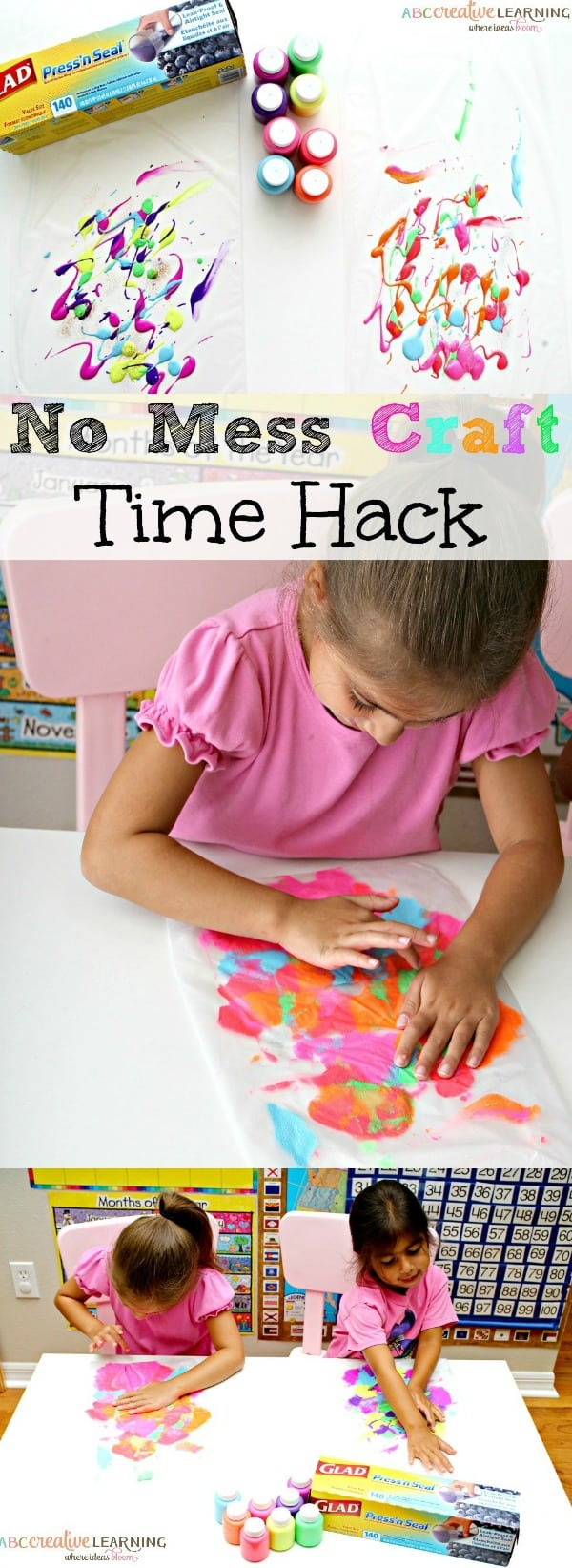No Mess Craft Time Hacks For Parents. A great way to allow your kiddos to create without the mess! - simplytodaylife.com