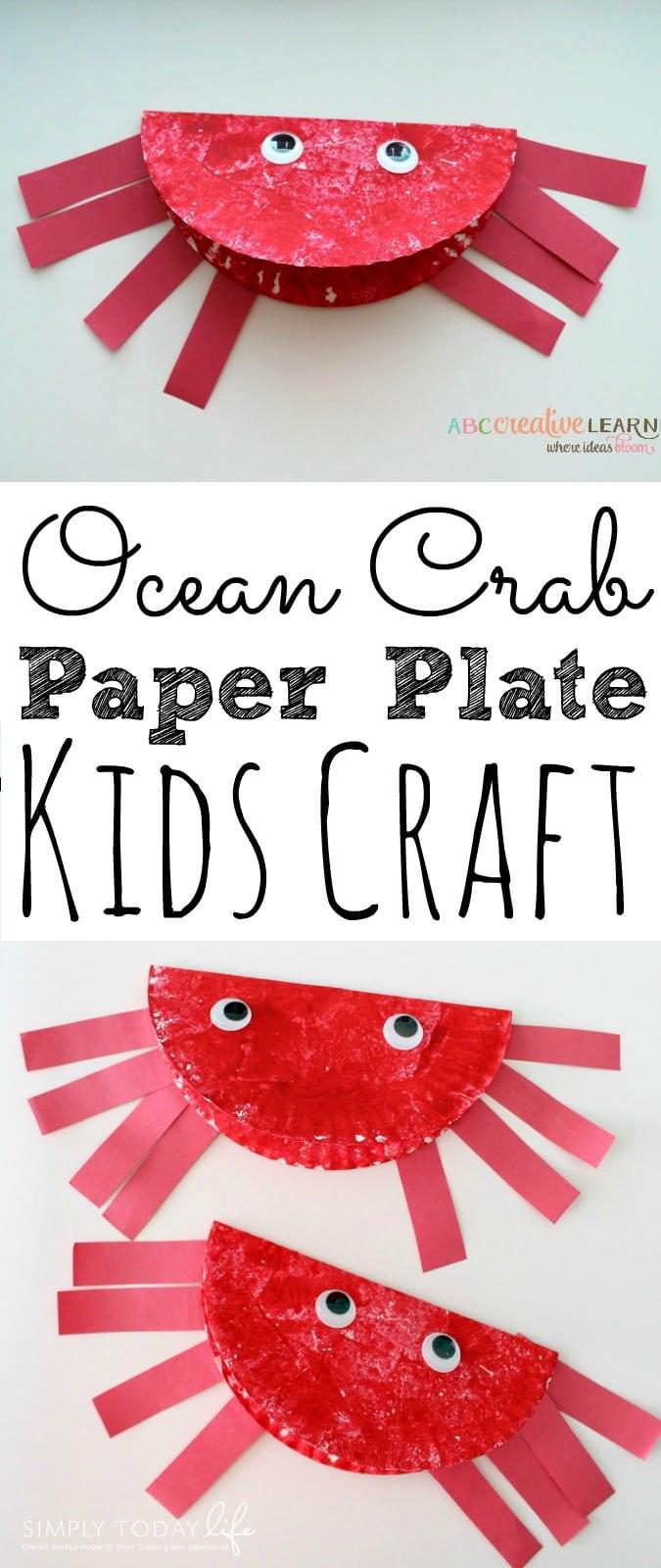Paper Plate Ocean Crab Craft