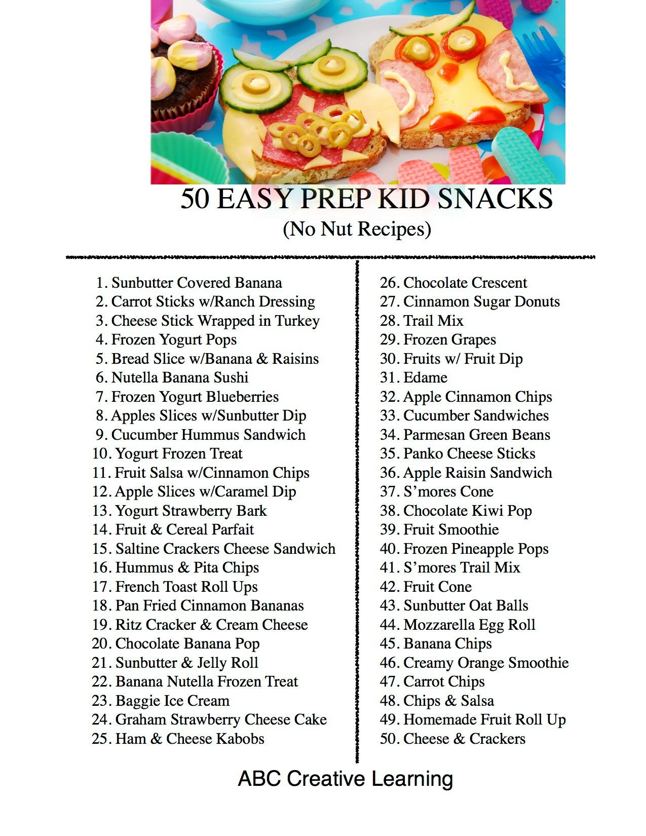 50 Easy Prep Kid Snacks