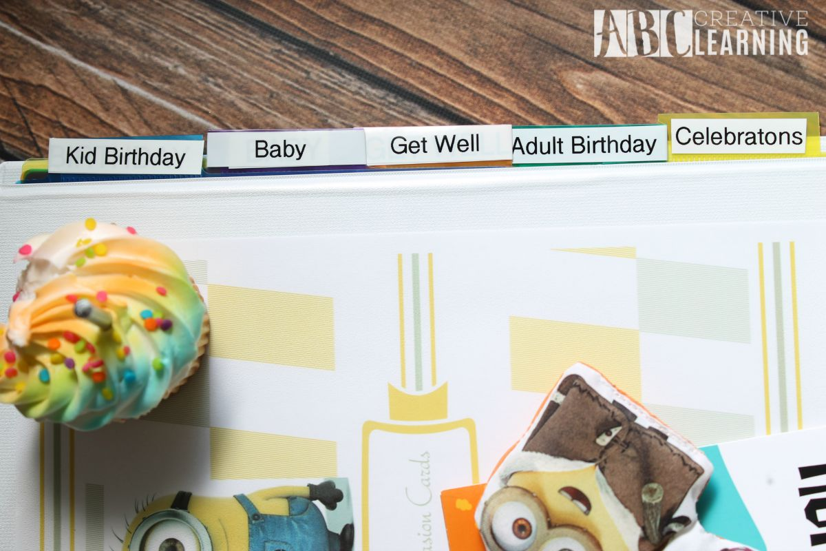 Easy Budget Friendly Birthday and Celebration Card Organizer  Labels