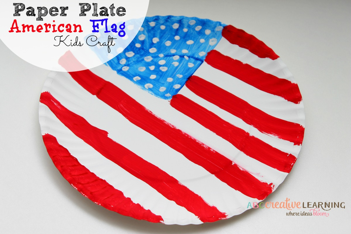 Easy Paper Plate American Flag Craft