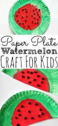 watermelon craft paper plate easy summer crafts simplytodaylife activities boredom busting preschool cutting create
