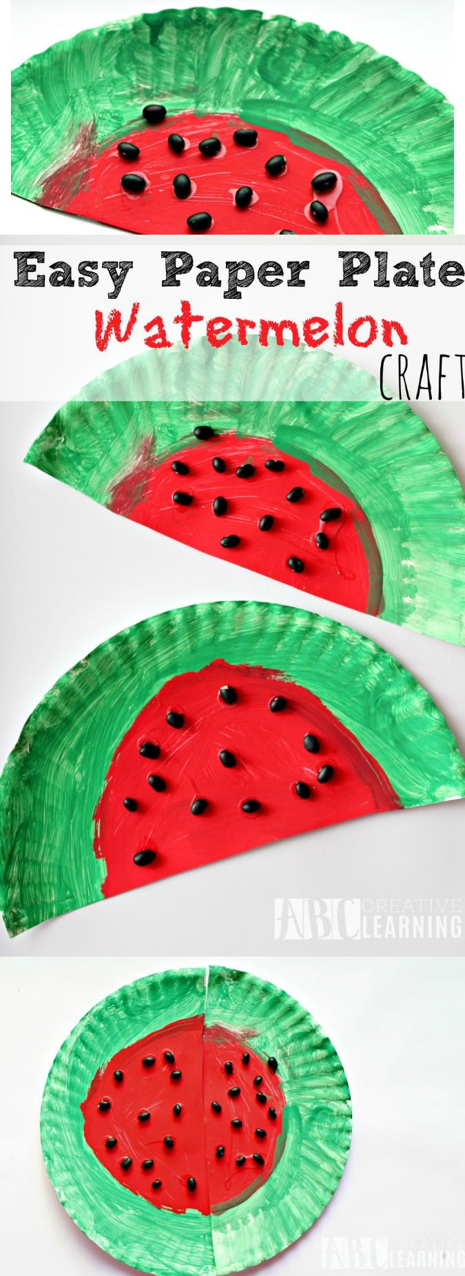 Easy Paper Plate Watermelon Craft - simplytodaylife.com