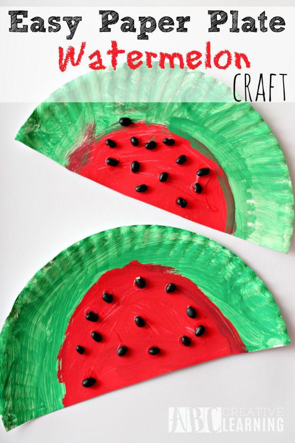 Watermelon Paper Plate Craft
