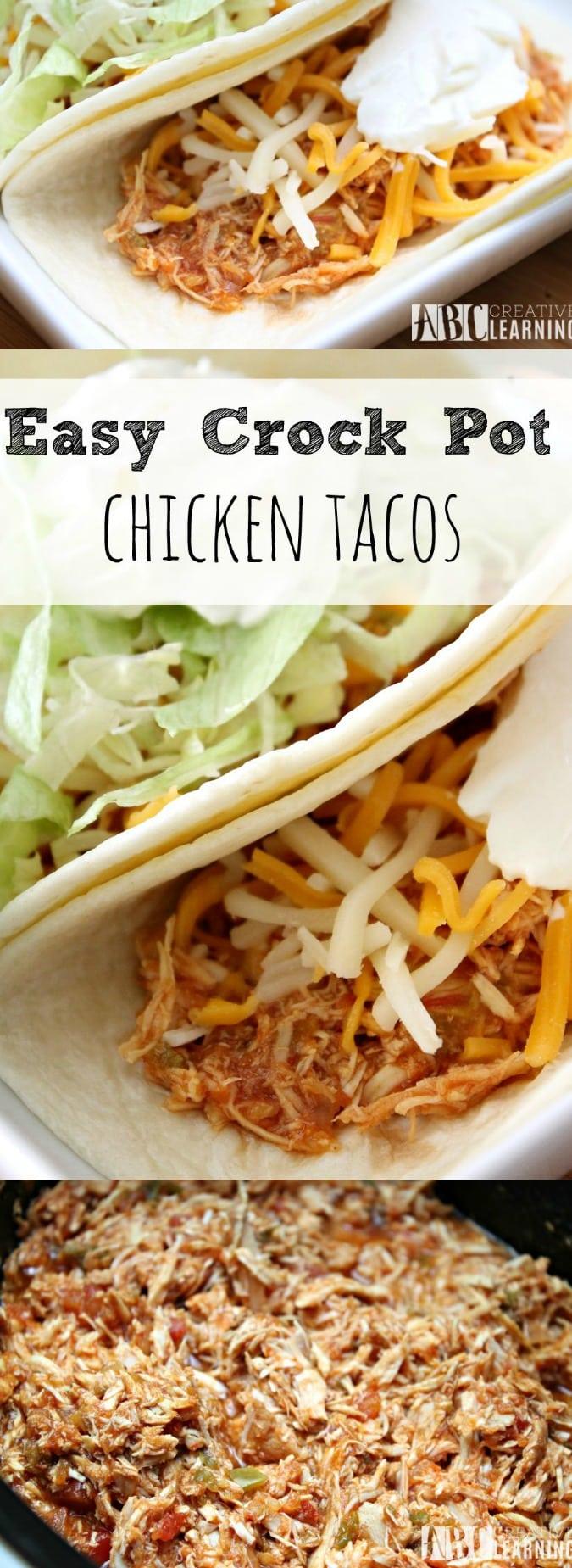 Easy Crock Pot Chicken Tacos