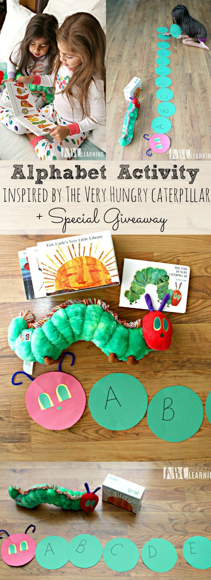 Alphabet Activity Inspired by The Very Hungry Caterpillar + Giveaway - simplytodaylife.com
