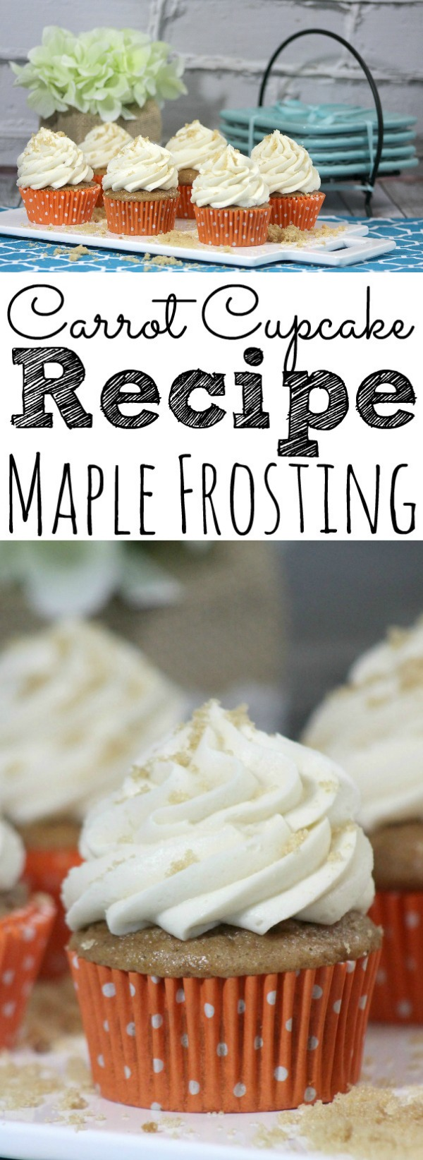 Classic Carrot Cupcake with Maple Frosting