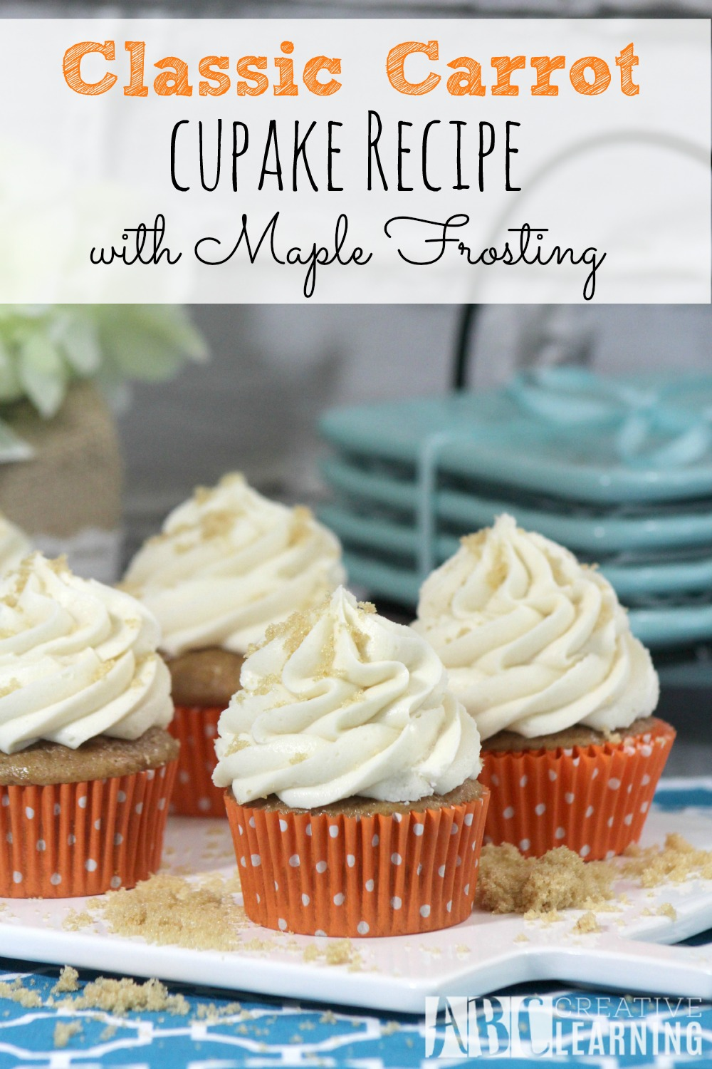 Classic Carrot Cupcakes with Maple Frosting