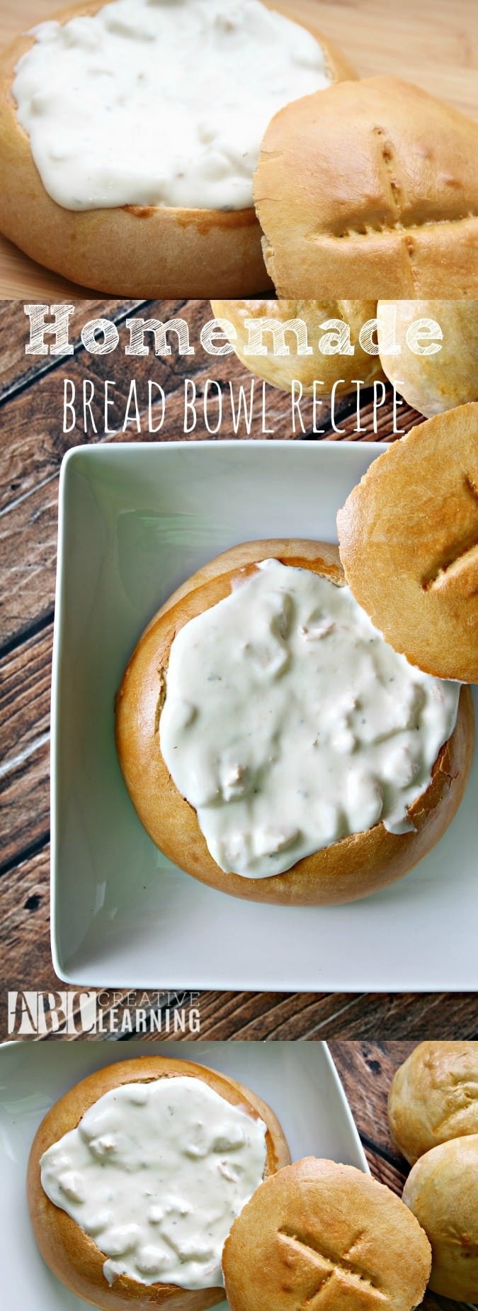 Homemade Bread Bowl Recipe for Fall Soups - simplytodaylife.com