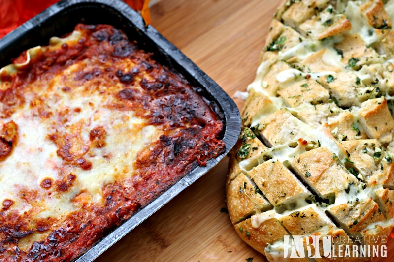 Easy Cheesy Garlic Pull Apart Bread and NESTLÉ® STOUFFER'S® Family Size Entreés dinner