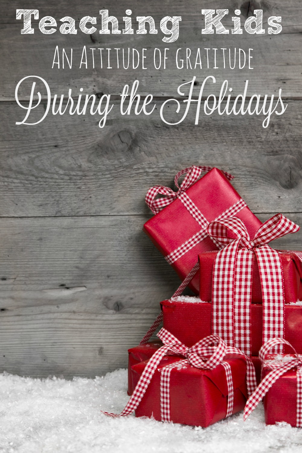 Teaching Kids an Attitude of Gratitude During the Holidays