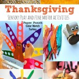 Thanksgiving Sensory Play and Fine Motors Skills Activities
