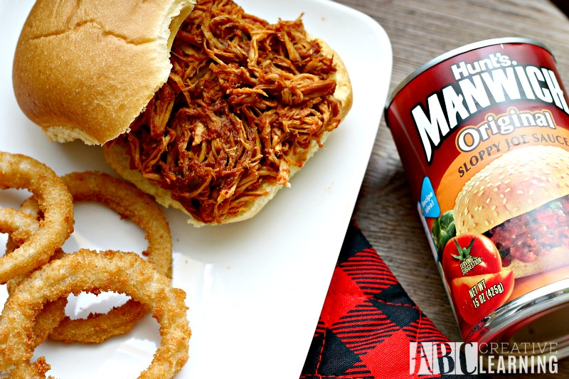 Easy Crockpot Chicken Sandwich MANWICH