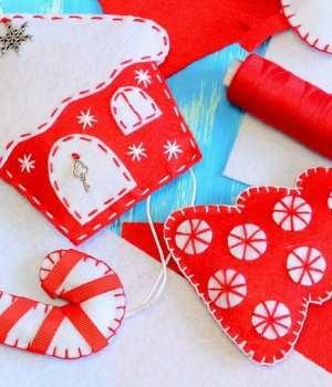 Handmade Christmas Felt Ornaments
