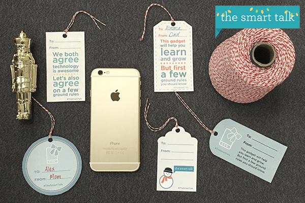 The Smart Talk holiday gift tags - horizontal