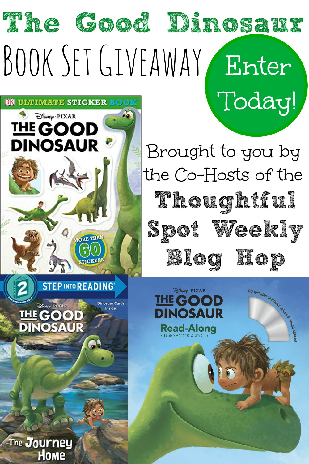The Thoughtful Spot Weekly Blog Hop Good Dinosaur Book Giveaway